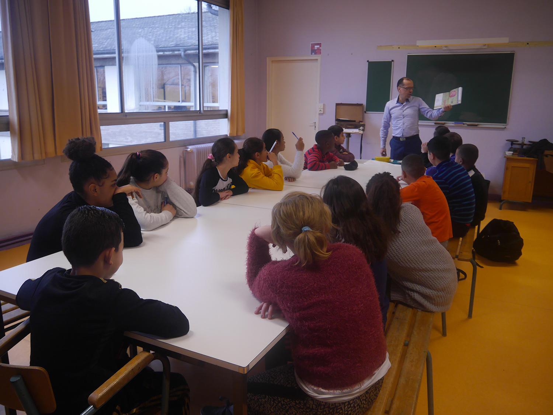 Atelier d'écriture avec D. Dumortier / Ecole Beauregard-Nancy
